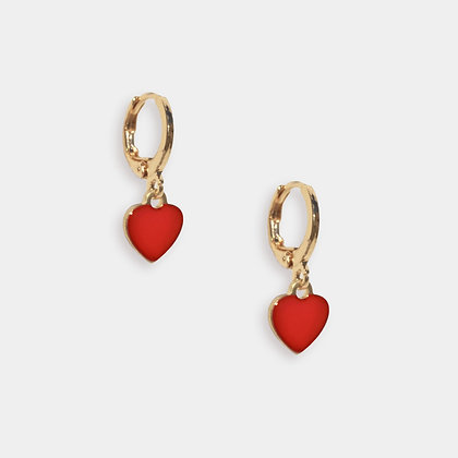 Confetti Heart Huggies - Red