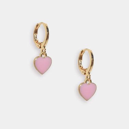 Confetti Heart Huggies - Pink