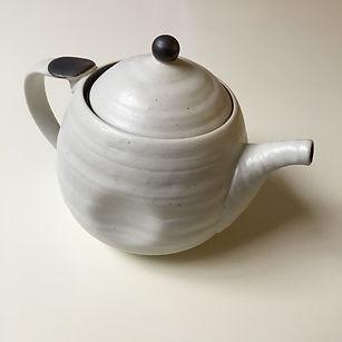 Eggshell Japanese Teapot
