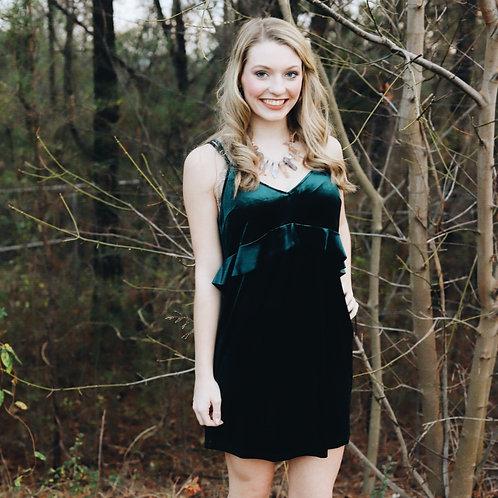 """Light Up The Night"" Emerald Dress"