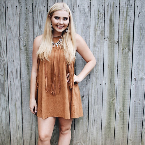 """Way Out West"" Fringe Dress"