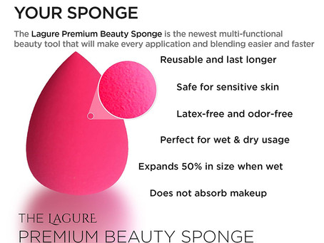 LAGURE Premium Beauty Sponge Blender
