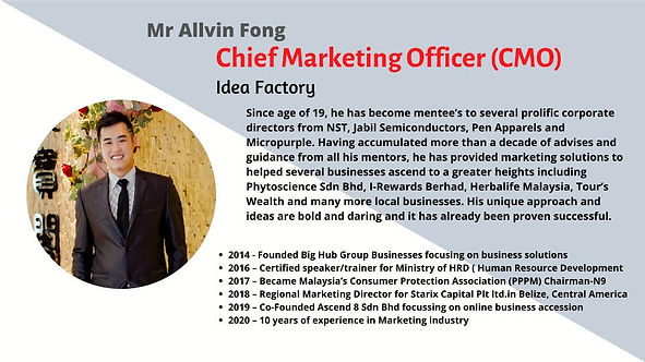 ALLVIN FONG. Chief Marketing Officer at