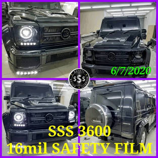Mercedes benz with SSS 16mil security film