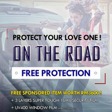 SSS 16mil security film. Protect you while you are on the road