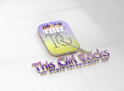 This Girl Rocks Logo Final Mockup