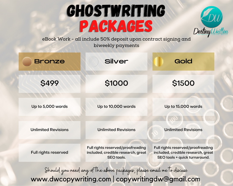 Ghost Writing Packages