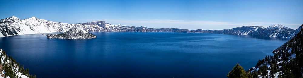 Crater Lake, Oregon. Multi image pano.