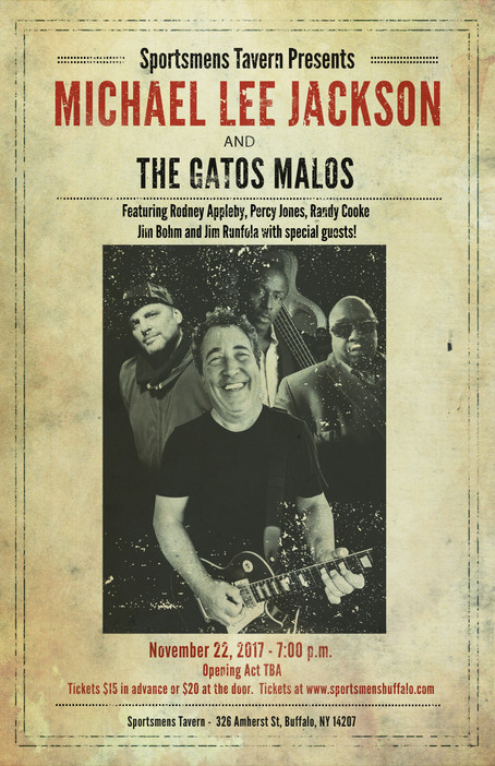 Michael Lee Jackson & the Gatos Malos live in Buffalo on November 22, 2017