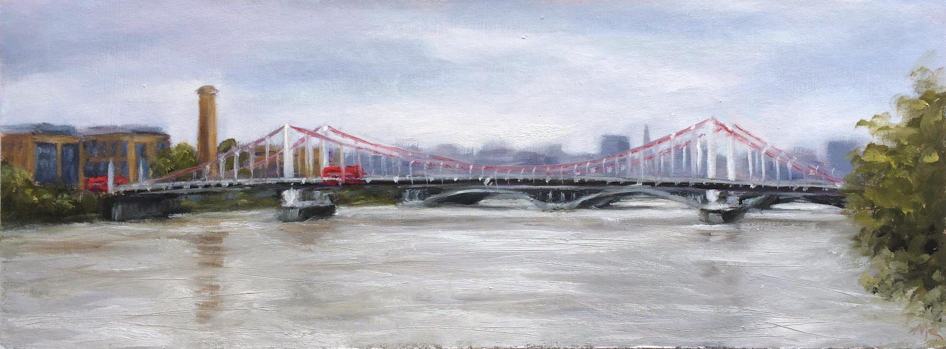 Grey Skies over Chelsea Bridge