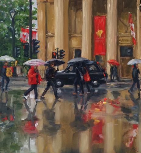 Canada House in the rain