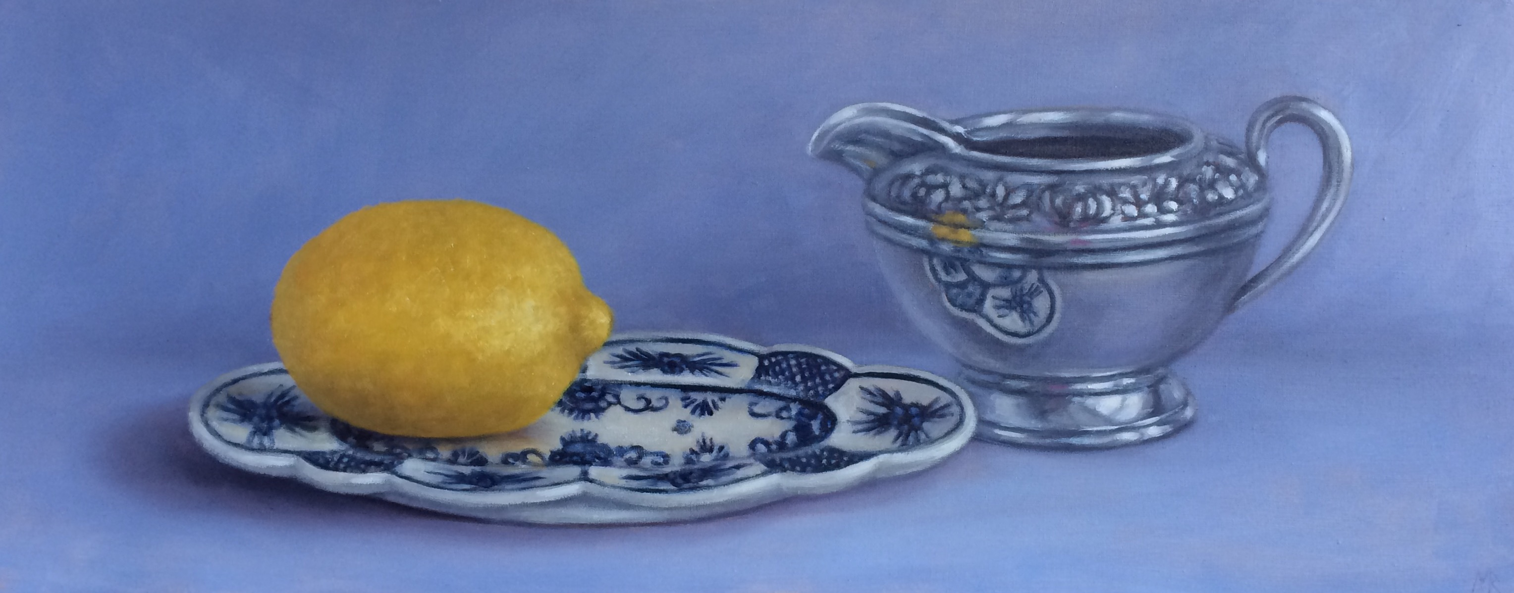 Reflections of Lemon on Blue
