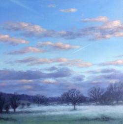 Evening Mist, Hambleden Valley