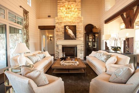 Ivory and oak sitting room