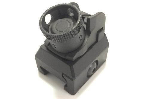 BP0406BK/DE 20mm レール対応  HKスタイル・デタッチャブル・リアサイト BK/FDE