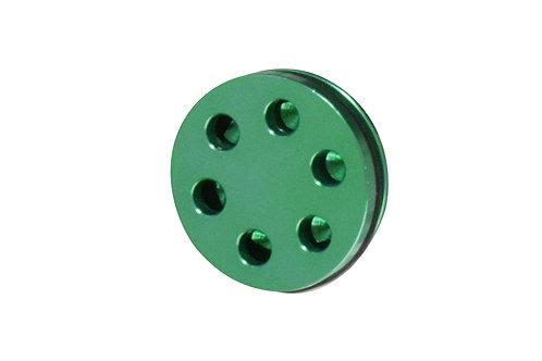 BPM10A Ver.2・3メカボックス/BOLTメカボックス対応 AERO-SHOT 給排気型 アルミピストンヘッド -GREEN High