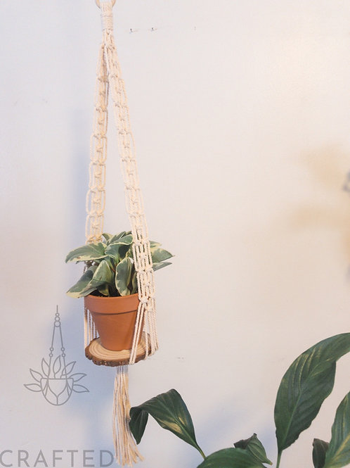 """Timber"" Macrame Plant Hanger"