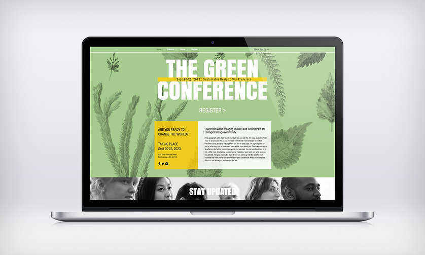 Eco-Conference Web Design by Hawaii Website Designers