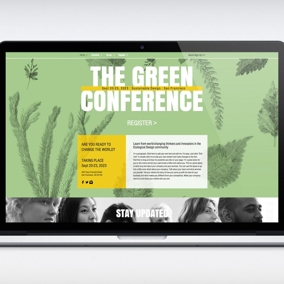 Eco-Konferenz Web Design