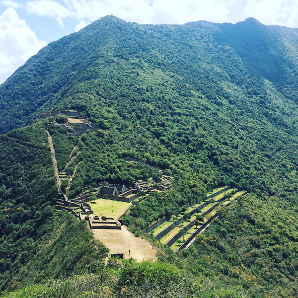 Choquequirao emerges from the jungle