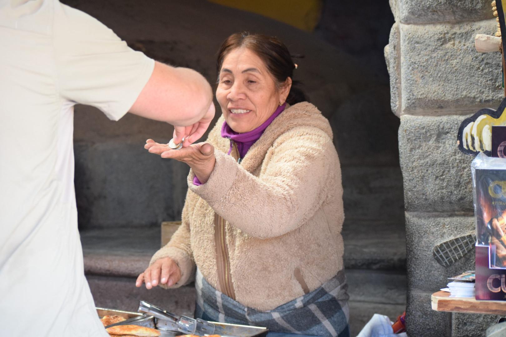 Local meal in Ollantaytambo