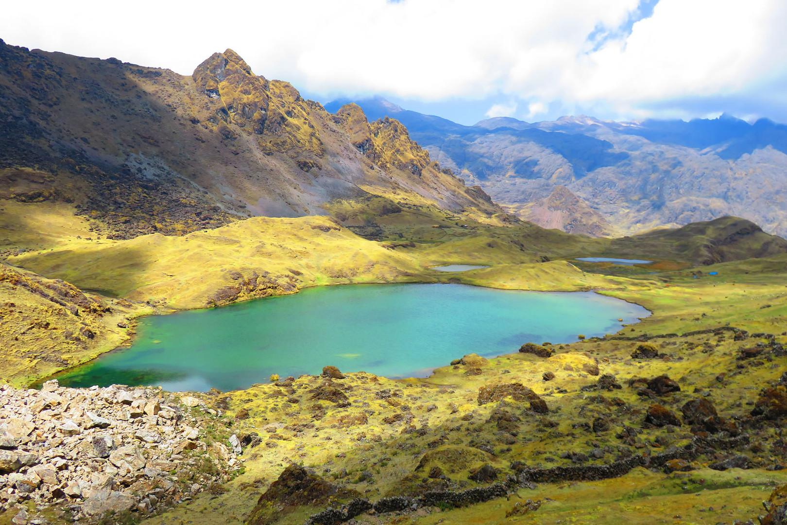A beautiful mountain lake