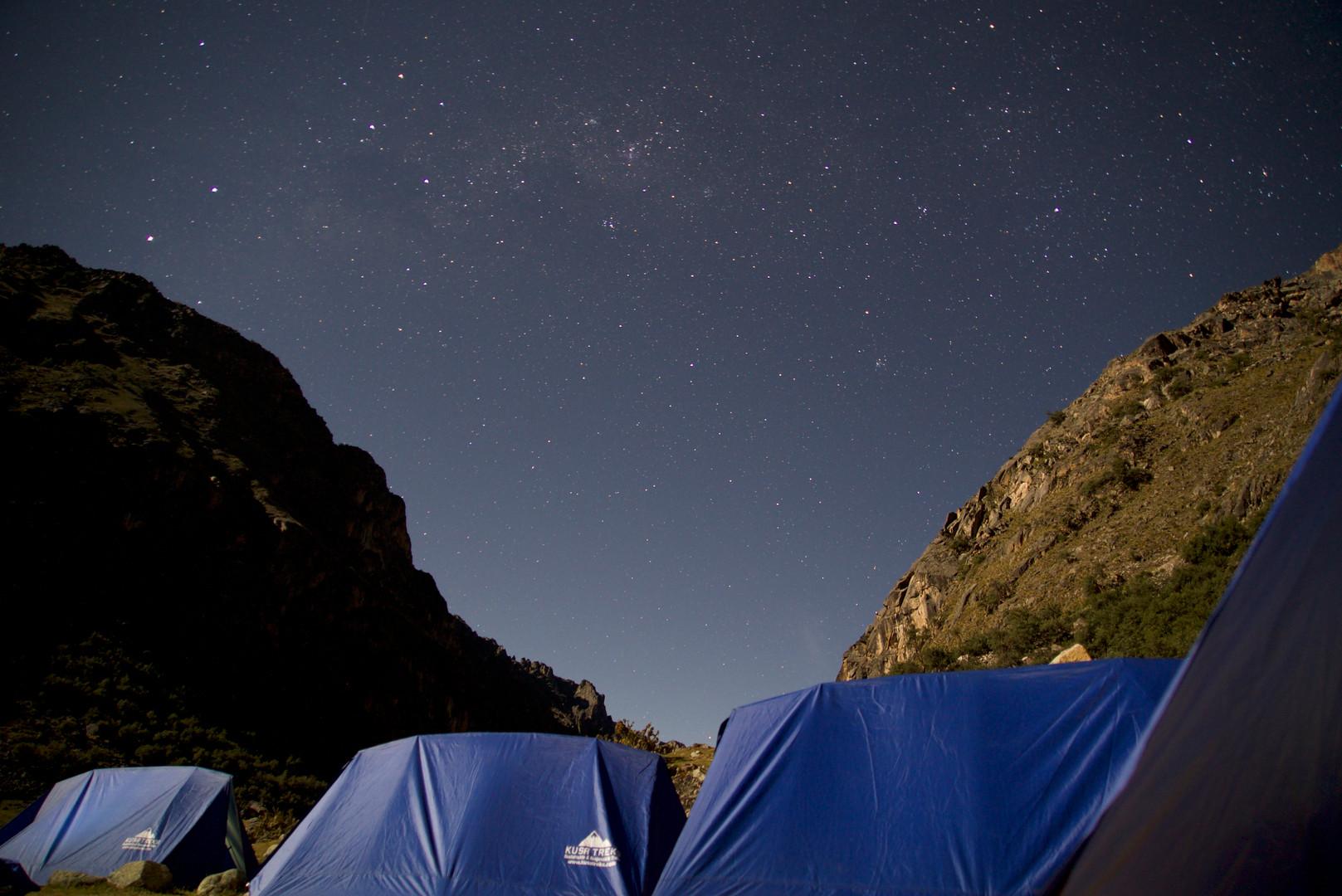 Camp site on night 1