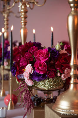 A Ruby Red Engagement Party Meets Your Holiday Tablescape