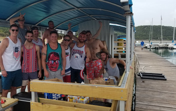 first bachelor party on the new boat 2018