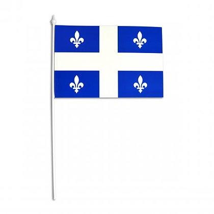 Petit drapeau du Québec en plastique