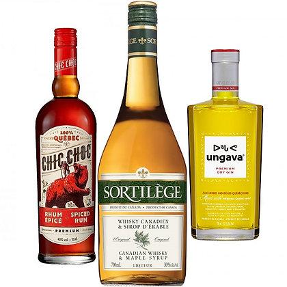 Pack promo 3 alcools(Rhum, Sortilège et Gin)