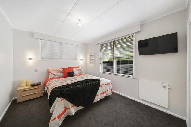 Funky orange bedroom