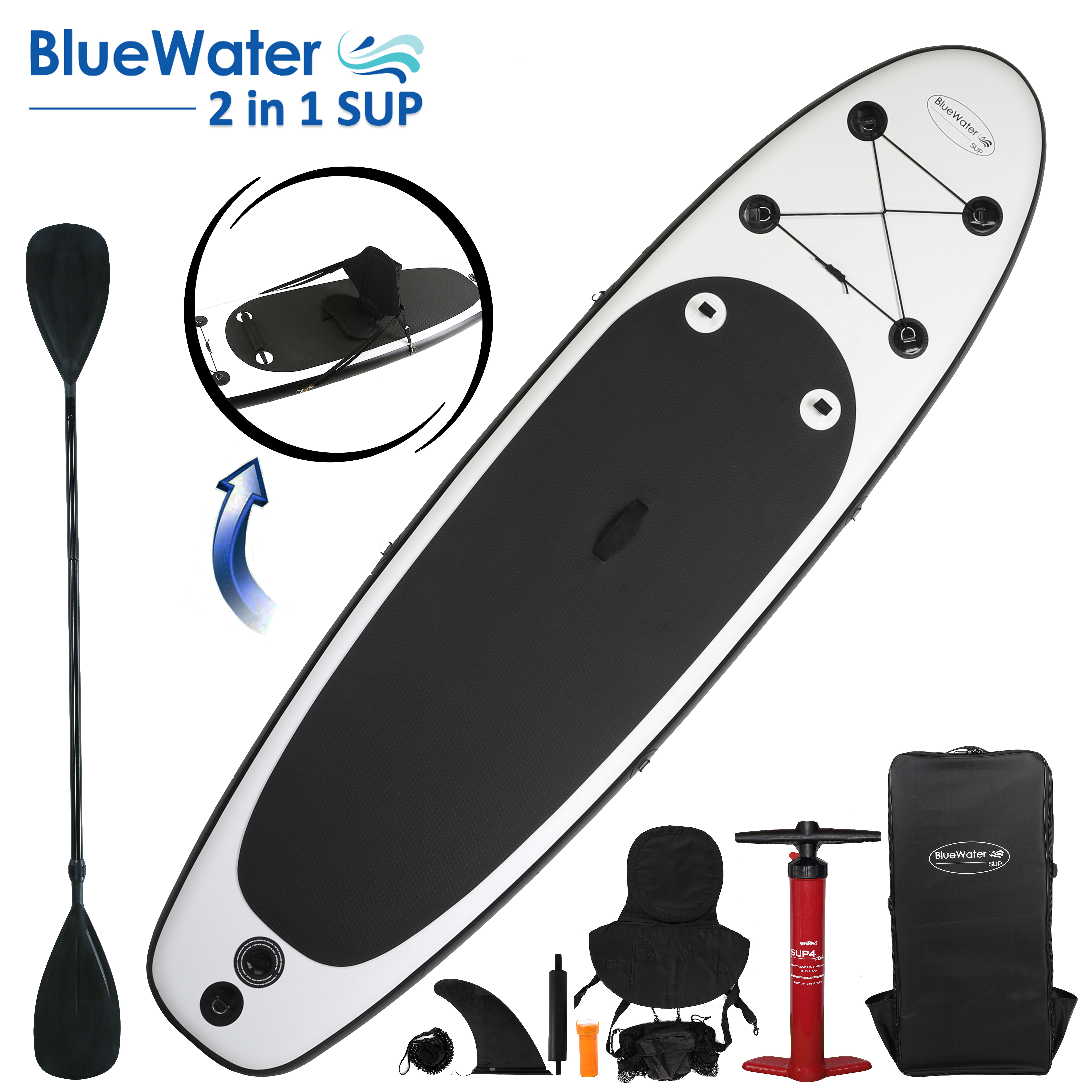 2 in 1 Inflatable Stand Up Paddleboard And Kayak