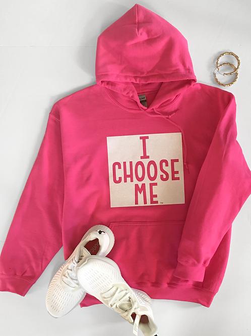 Hoodie with white Bling, Full I CHOOSE ME logo