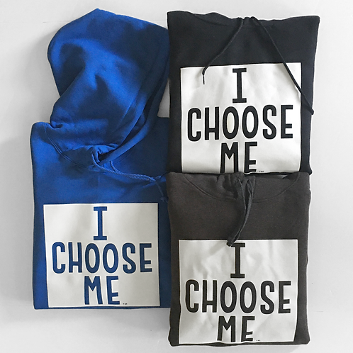 Hoodies Unisex with Full Square I CHOOSE ME Logo