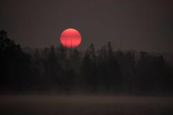 Foggy bottom sunrise