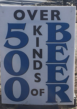 Discount Beverage offers over 400 kinds of beer