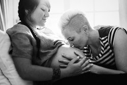 Lesbian couple expecting a baby