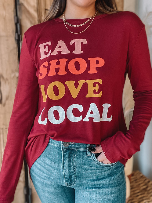 Eat Shop Love Local Graphic Tee