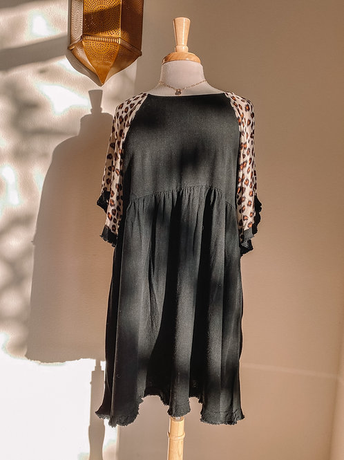 Printed Fringe Dress