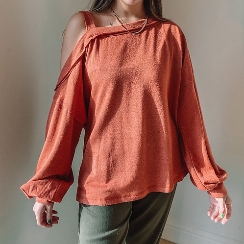 Marsala One Shoulder Top