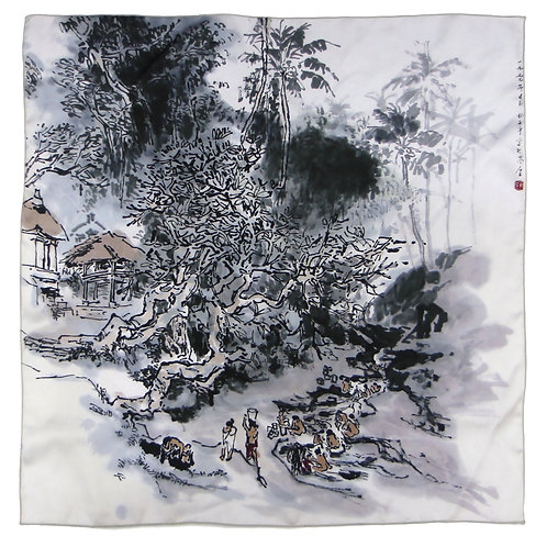 Riverside by Lim Tze Peng-Silk Print