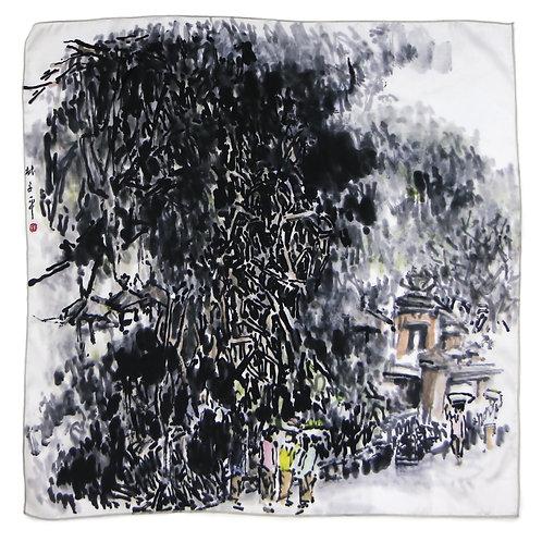 Banyan Tree by Lim Tze Peng-Silk Print
