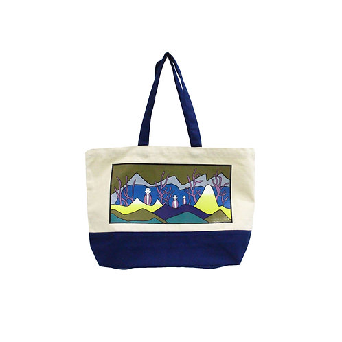 Adventure with Snowmen Tote Bag