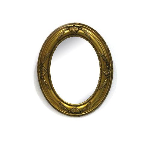Vintage Gold Framed Mirror(Round)