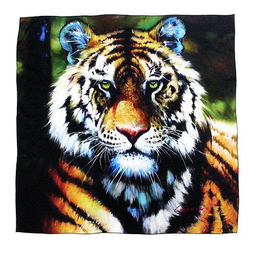 Print on Silk-Tiger
