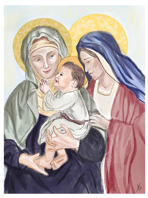 Saint Anne & Mary with Jesus