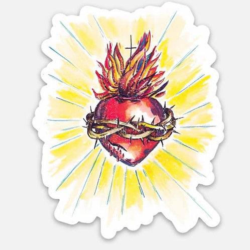 Sacred Heart Vinyl Sticker