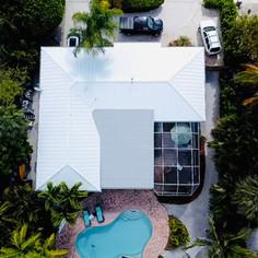 Regal White Aluminum Standing Seam Roof
