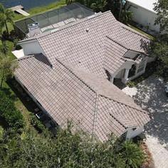 Brown Grey Range Tile Roof